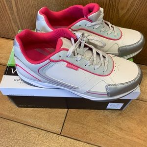 Vionic white and pink sneakers